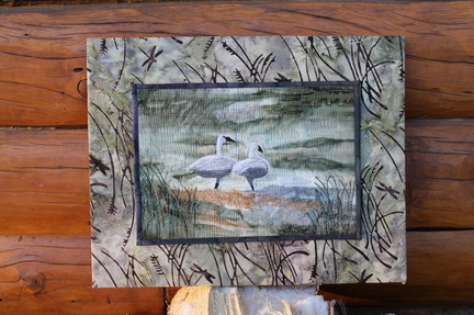 Trumpeter Swans Wall Hanging Quilt