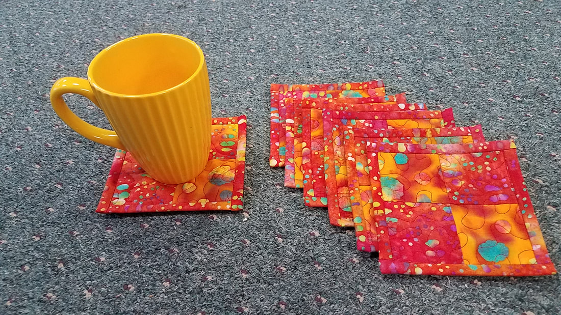 New quilted drink coasters