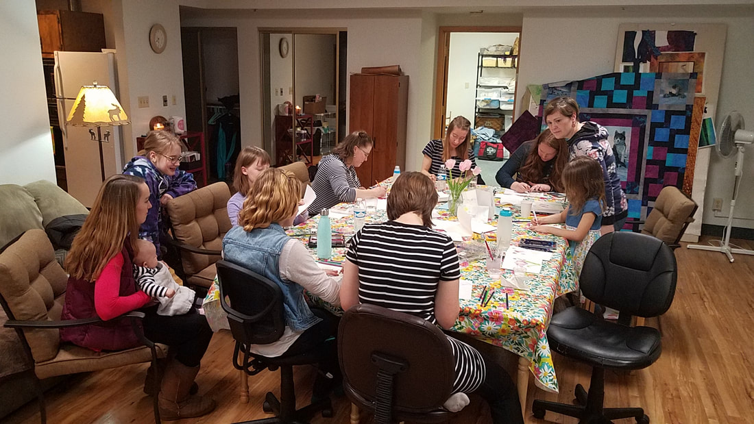 Ladies paint night at the studio
