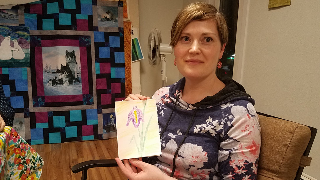 Paint night project iris