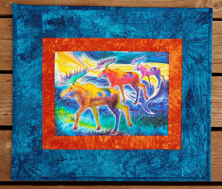 Teresa Ascone Moose Mystique Panel Quilt