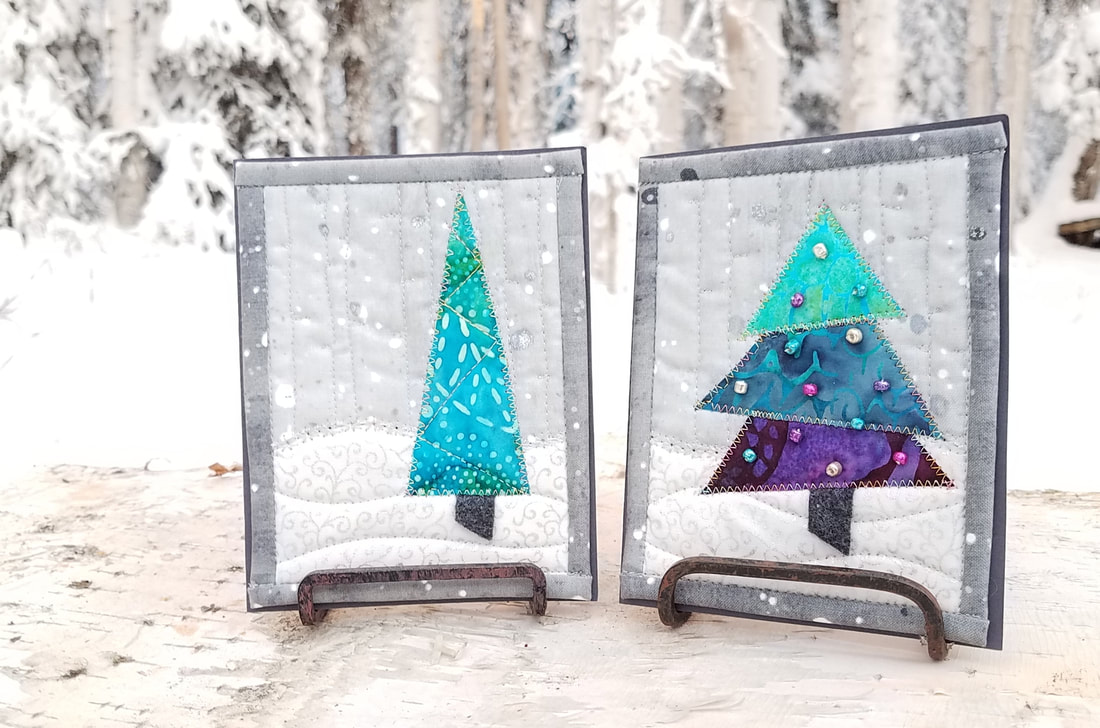 Winter Trees Card Pattern