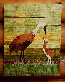 Sandhill Sunset Quilted Wall Hanging