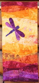 Dragonfly Quilted Wall Hanging