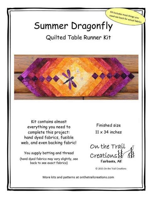 Summer Dragonfly Table Runner