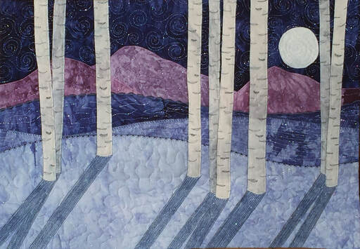 Moonshadows quilted wall hanging