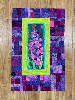 Fireweed panel quilt