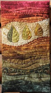 Leaf Quilted Wall Hanging