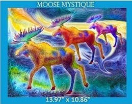 Ascone Moose Mystique Panel