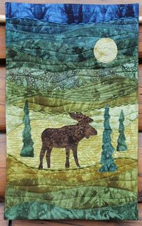 Moose Quilted Wall Hanging