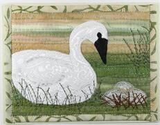 Tundra Swan Card Pattern