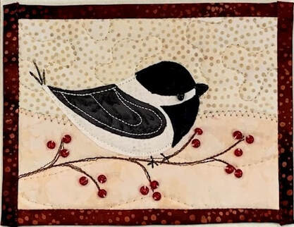 Chickadee Quilted Card
