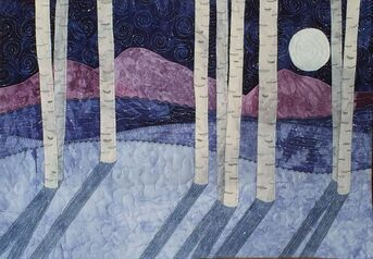 Moonlight Quilted Wall Hanging