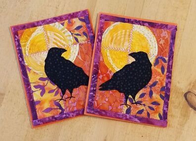 Raven Moon Card Orange