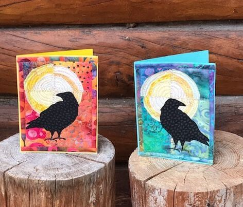 Raven Moon Quilted Cards