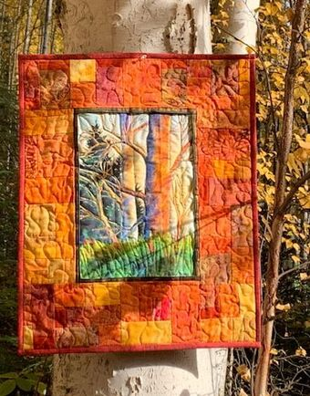 Ascone shadow patterns panel quilt